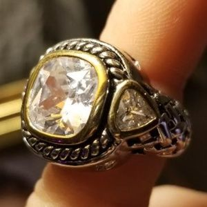 Amazing 6 CT Stainless Steel Cocktail Ring Size 6